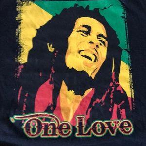 NWOT Gildan cotton S Bob Marley One Love T-shirt